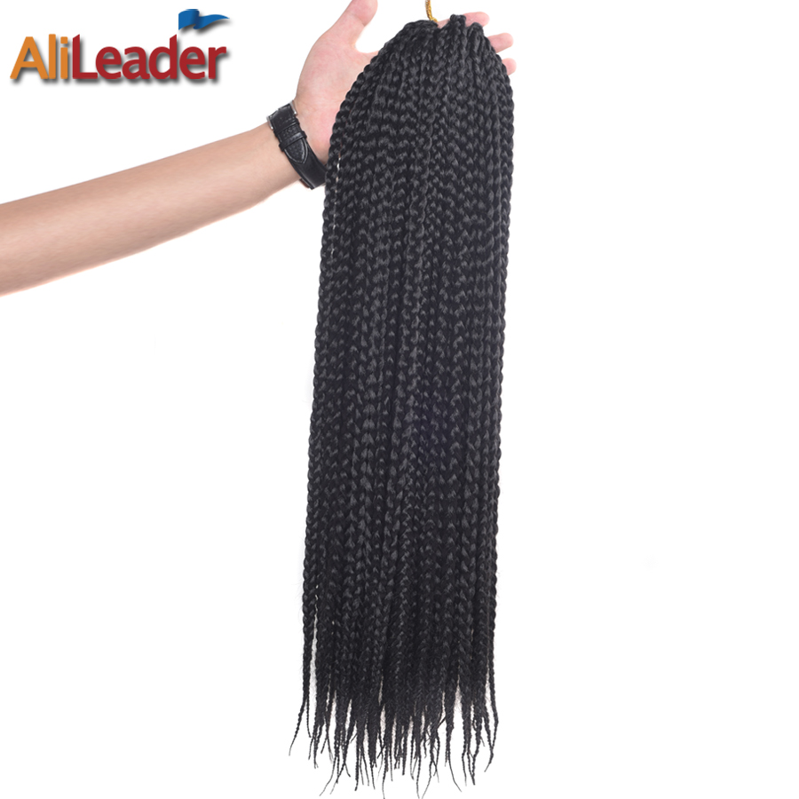 Alileader Products Box Braid Hair Extensions 12 16 20 24 30 Inch Synthetic Crochet Hair Braiding Kanekalon Braids 22Strands/Pack