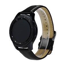 Remplacement En Cuir Montre Bracelet hommes femmes En Cuir Véritable montre strapBand Pour Samsung Gear S3 Classique véritable en cuir bandB