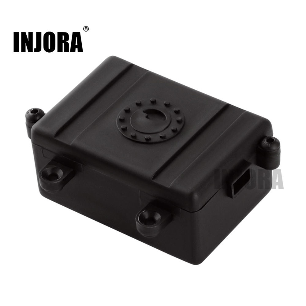 INJORA Black Plastic RC Car Radio Receiver Box For 1/10 Axial SCX10 D90 D110 RC Crawler Car