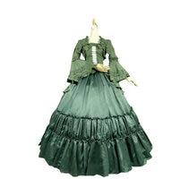 V 1149 Green Cotton Classic Gothic Lolita dress/victorian dress Civil War US6 26 xs 6xl V 808