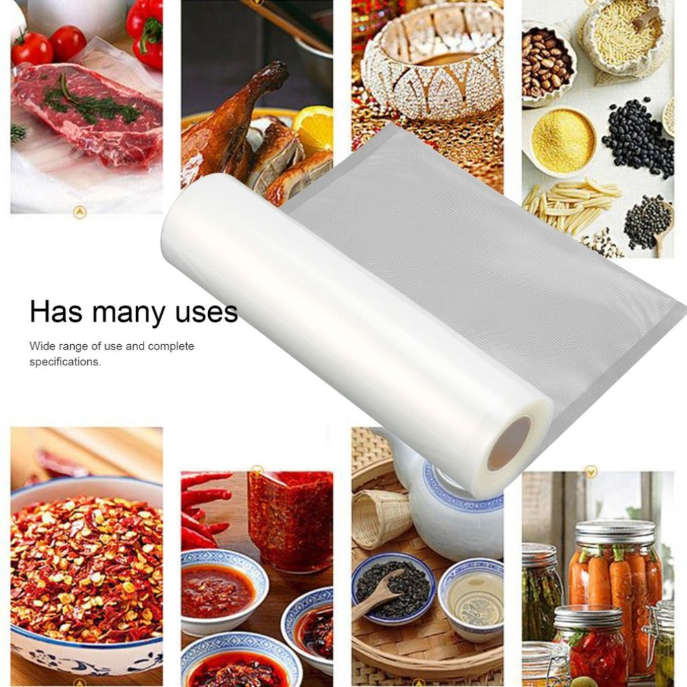 1 Roll Household Food Vacuum Packaging Bag For Vacuum Food Fresh Keeping Long Cargo Bag Vacuum Fresh-keeping Bag Sealer Accessor
