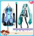 Miku Cosplay Vestido de Envío libre de Regalías Barato Por Encargo De Vocaloid Miku Cosplay Vestido de Traje