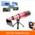 2017 cámara del teléfono lentes 80x metal teleobjetivo lente del telescopio para samsung galaxy S3 S4 S5 S6 S7 borde nota 3 4 5 control de Bluetooth