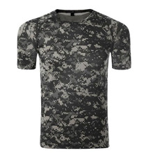 Summer Military Camouflage T-shirt Men US Army Combat Short Sleeve Tactical T Shirt Cotton O Neck Camo Airsoft Paintball Clothes