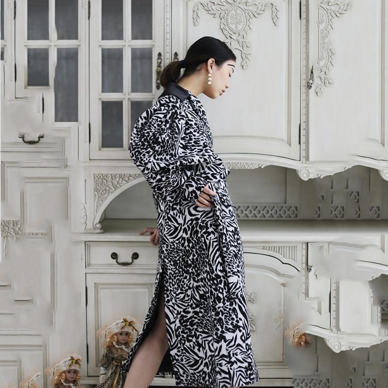 See 2018 X souris Manches Picture long Chauve Mode Hiver Pleine Femmes De neck Corée Rayé xitao Femme Casual V Mélange Manteau Dll1237 5wqRPpz