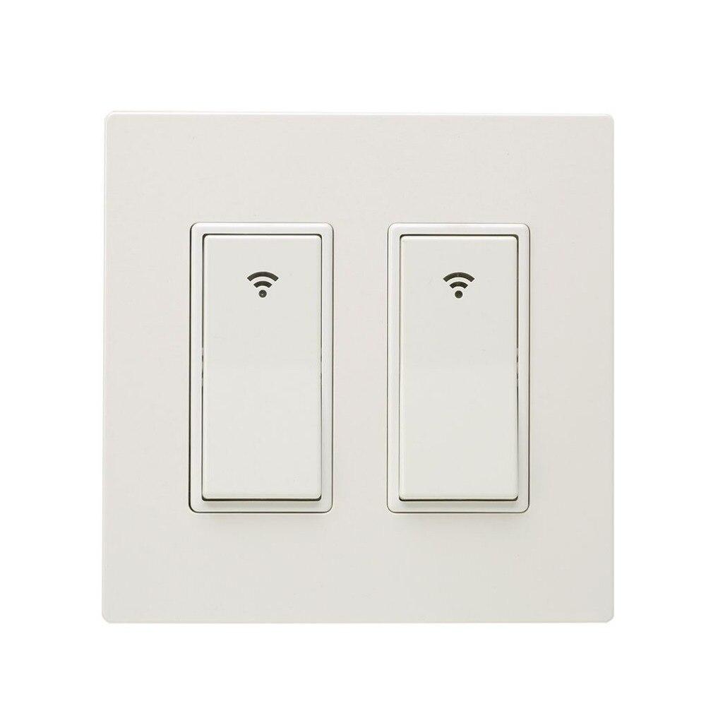 Wifi Tactile Interrupteur ampoule connectée panneau de commutation Mur Interrupteur 1/2/3 Façon Wifi interrupteur NOUS Standard Avec La Maison Pur blanc