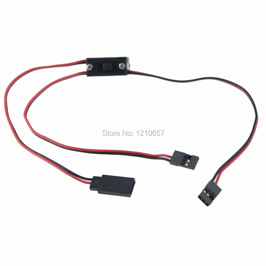1PCS 3 Way Power On Off Switch RC Receiver with JR Futaba Wire ...