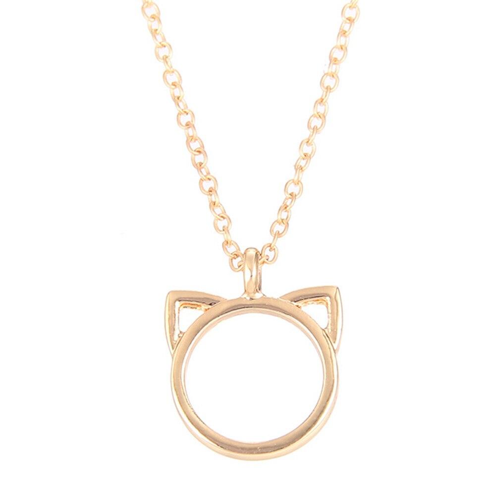 Purrfection Cat Ear Alloy Pendant Short Necklace