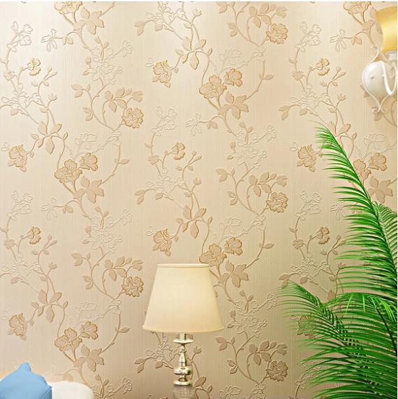aliexpress  buy embroidery d modern flower mural wallpaper, Living room