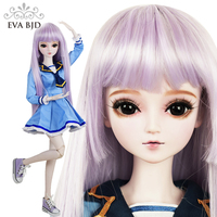 22 56 см синий для маленьких девочек 1/3 SD кукла 19 Объединенная подарок BJD куклы + макияж + ручной работы макияж + полный набор парик одежда подар