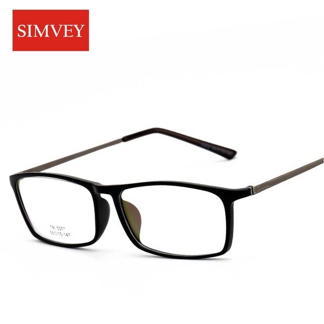 4921ef18ff Simvey Korean Retro Designer Nerd Glasses Frames Clear Fashion Square  Glasses Eye Glasses Frames for Men TR90
