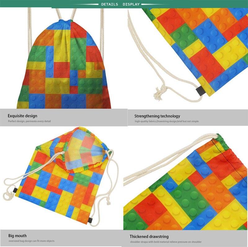INSTANTARTS Sport Bag Gym Sack Math Formula Printed Children String  Backpack Boys Small Drawstring Bag Outdoor Shoes Fitness #29737