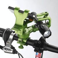 Bike Bicycle Holder 2 In 1 Motorcycle Handlebar Racks For Cellphone GPS Flashlight Torch GPS Phone