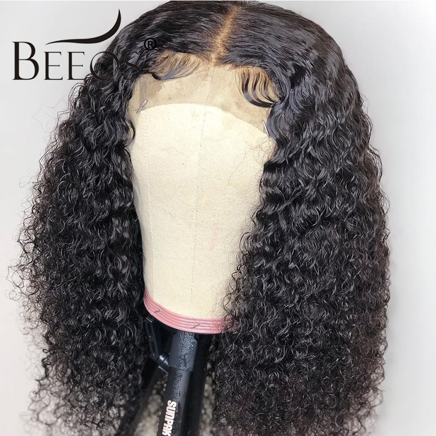 Beeos Brazilian Full Lace Human Hair Wigs Pre Plucked Natural Hairline With Baby Hair Curly Remy Hair Wigs Bleached Knots-in Human Hair Lace Wigs from Hair Extensions & Wigs    1