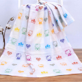 Baby bath towel 70*140cm 100%cotton  three layers gauze towel newborn  baby cotton blanket cartoon baby boy  girl Bath  Product