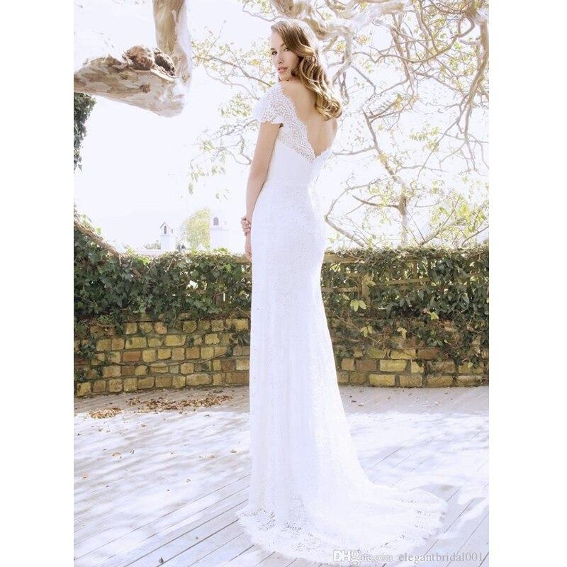 2017 neue Heiße Backless Brautkleider Gorgeous Bateau Necl Spitze ...