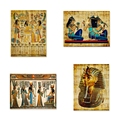 Египетская настенная живопись на холсте, пергаментная бумага, стиль старый античный постер, принты, ретро египетская картина, Настенный дек...