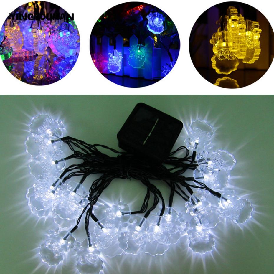 YINGTOUMAN Santa Type High Quality LED Lamp 4.8m 20 LED Solar Christmas Lights Outdoor Solar Fairy String Lights for Garden