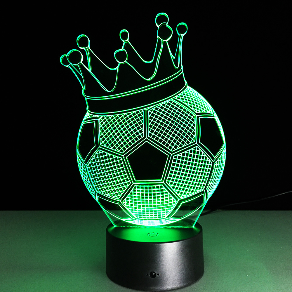 3d Lights Football Club Led Touch Lamp Soccer Nightlight 3d Table Lamp Desk Luminaria Football Lamp 3d Night Light