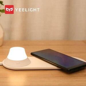 Image 1 - オリジナル mi Yeelight ワイヤレス充電器 Led ナイトライト磁気吸引のための急速充電 iphone サムスン Huawei 社シャオ mi