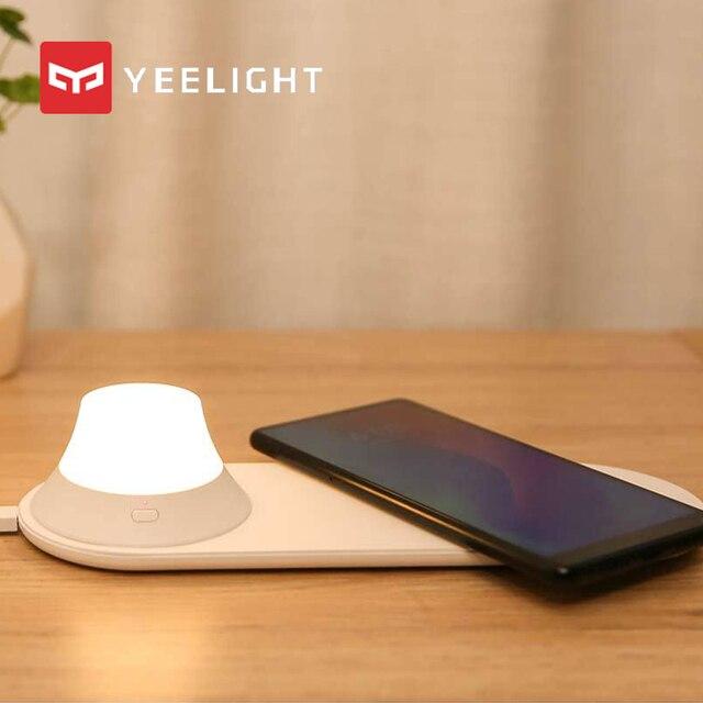 オリジナル mi Yeelight ワイヤレス充電器 Led ナイトライト磁気吸引のための急速充電 iphone サムスン Huawei 社シャオ mi