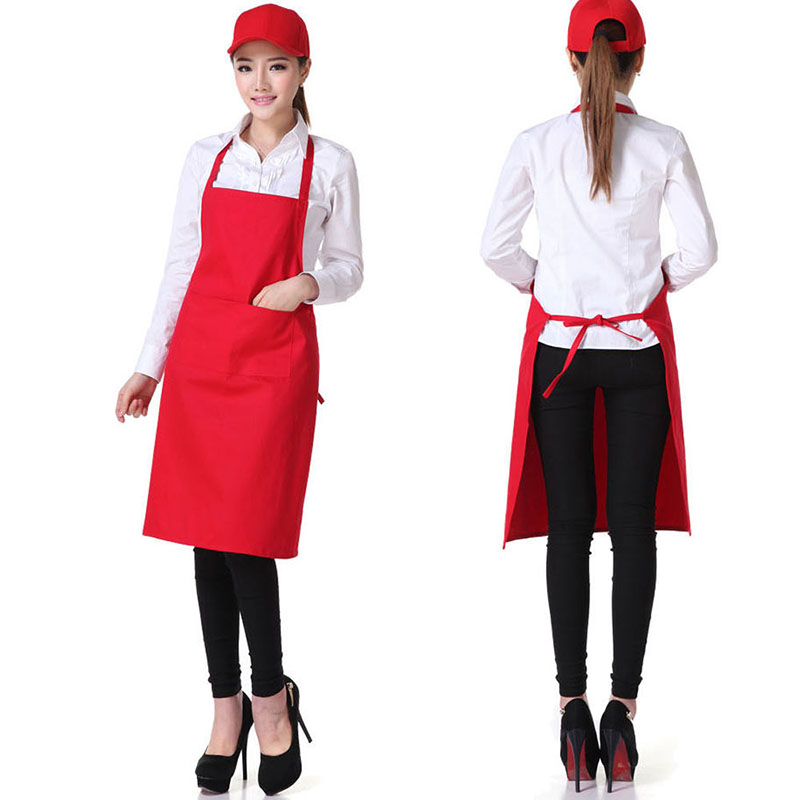 Plain Apron + Pocket for Chefs Butchers BBQ Kitchen Cooking Craft Black Blue Red ...