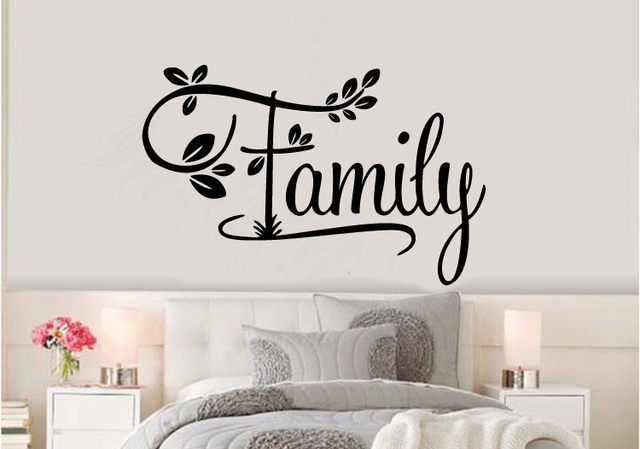 8eafceddbabd Creative family leaf vinyl wall quotes decal stickers decorative pattern  home decor art mural wallpaper