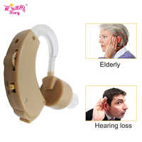 Ifory 1Pcs Mini Hearing Aid Amplifier Adjustable Enhancement Hear Clear for the Elder Deaf Aids Elderly & Hearing Loss Ear Care