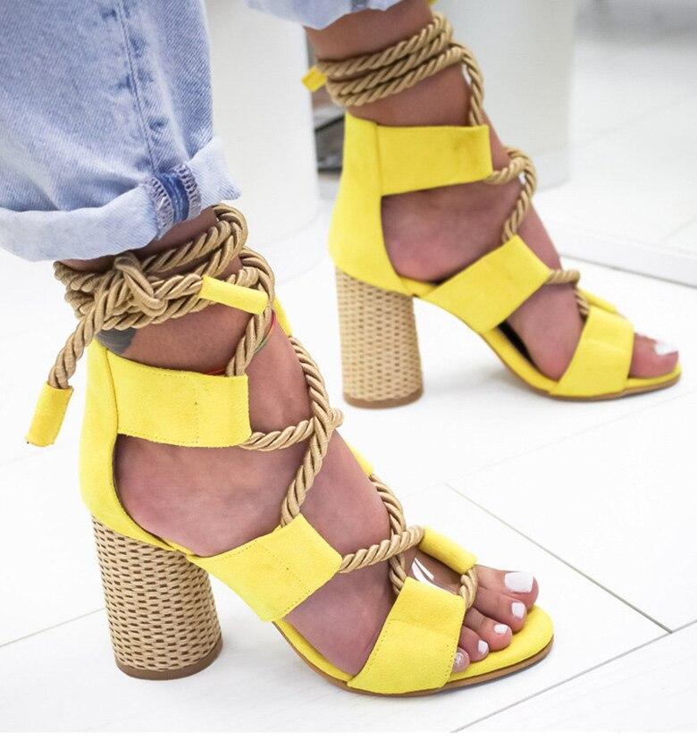 HTB11jqTaUuF3KVjSZK9q6zVtXXak Women Sandals 2019 Women Heels Shoes For Gladiator Sandals Women High Heels Summer Shoes Woman Lace Up Peep Toe Chaussures Femme