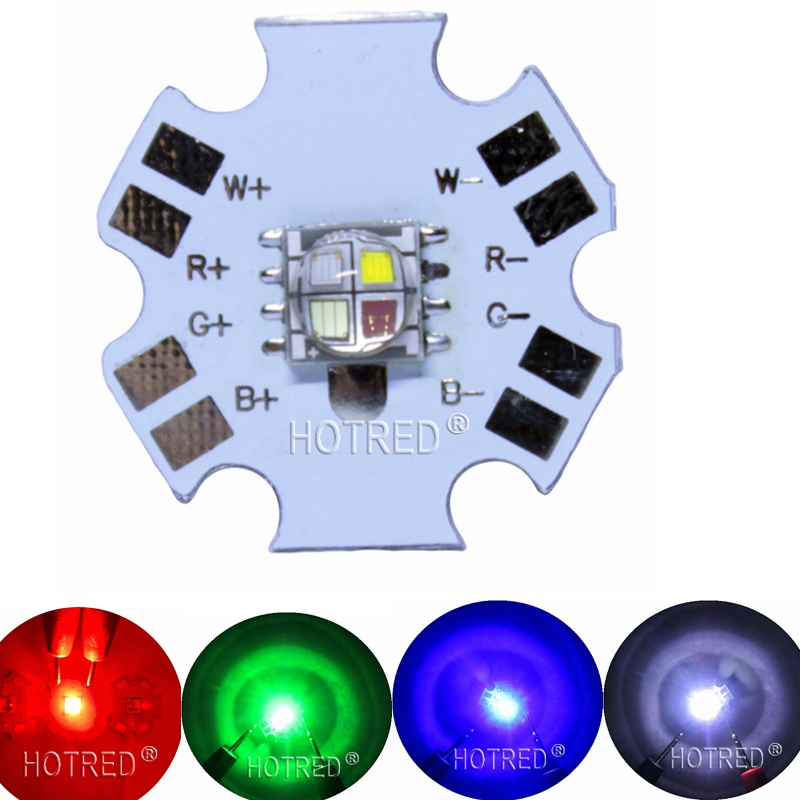 1pcs 5050 4Chips Ceramic Substrate High Power 6-9W Led Diode Chip SMD5050 RGBW Full Color Instead Of XML RGBW For Stage Lighting