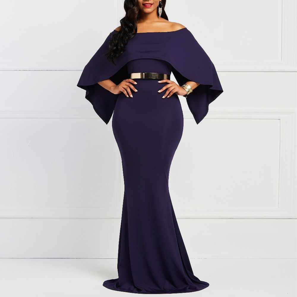 Christmas Dinner Dresses.2019 Maxi Dresses Batwing Sleeve Bodycon Women S Dinner