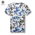 2016 Homens Verão T Camisas dos homens Moda Casual Slim Fit Grande tamanho de Manga Curta V Neck T Shirts Camisa Masculino Tees Sportswear