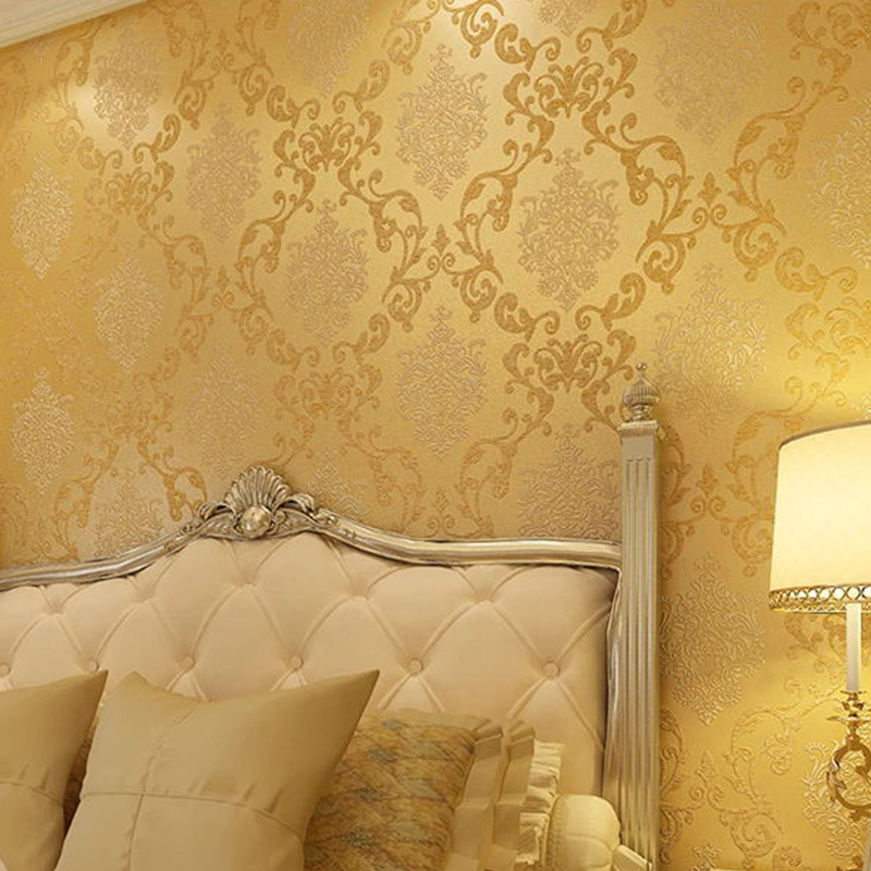 Luxury <font><b>Italian</b></font> Style Modern 3D Embossed Background Wallpaper For Living Room Bedroom Damask Wall paper Roll Desktop Wallpaper