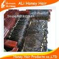 Mejor calidad de color marrón natural suave, sedoso cabello virgen a granel remy, pelo remy virginal, pelo humano de remy, pelo de malasia