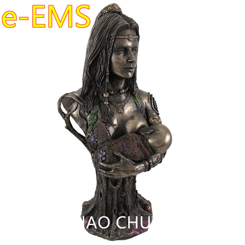 Mother Earth Goddess Danu Half-Length Photo Or Portrait Creative Alloy Sculpture Desktop ...