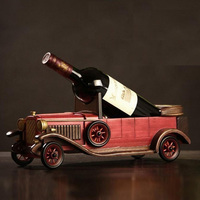 American Country Retro Vintage Wine Rack Solid Wood By Hand European Style Wooden Models Of Red