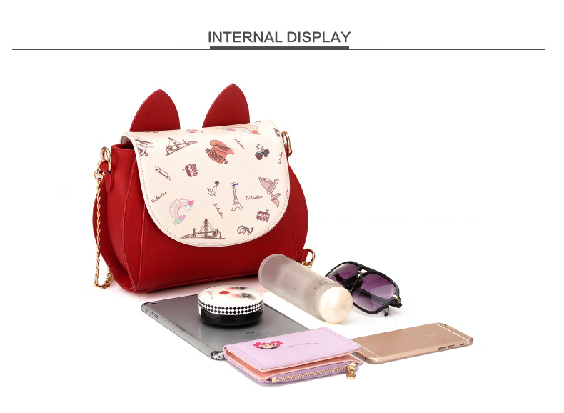 Cute Cat Ears Crossbody Bag