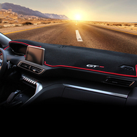 Car Dashboard Avoid Light Pad Instrument Platform Desk Cover Mats Carpets LHD For Peugeot 3008 GT