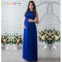 376b1f74273c827 Babzapleume/летнее Для женщин длинные для беременных элегантное праздничное  платье для беременных Костюмы плюс Размеры