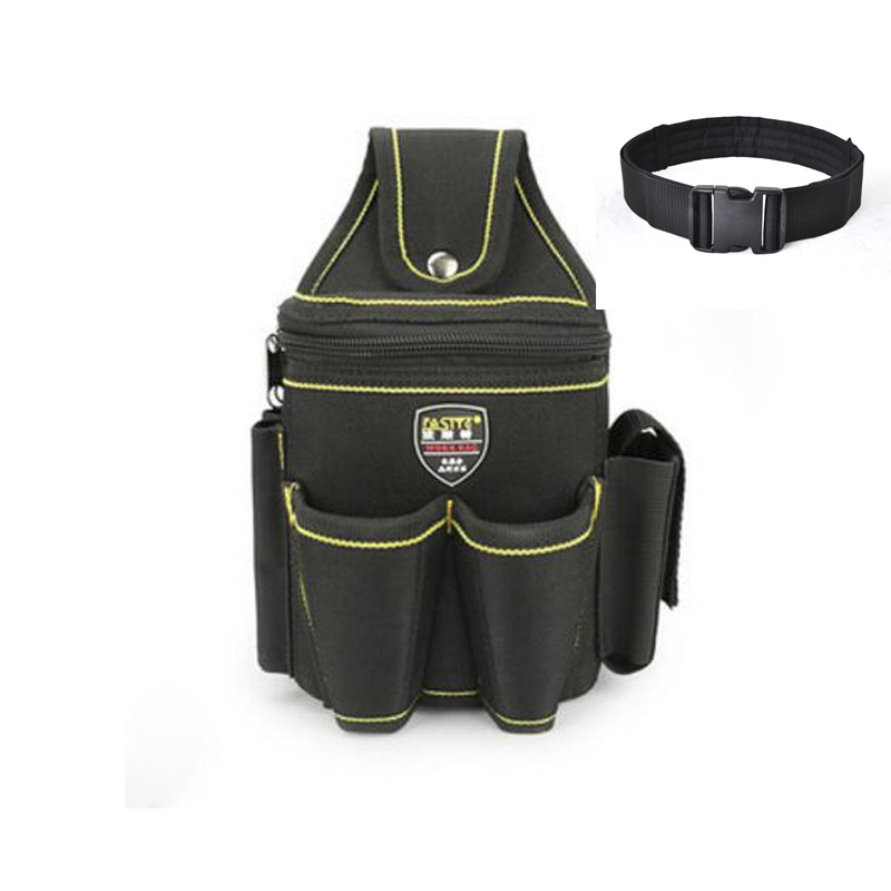 87456fd06cd9 US $13.99 |Multi function Canvas Waist Tool Bag Portable for Professional  Electricians Tool Pouch + Waist Belt-in Tool Bags from Tools on ...