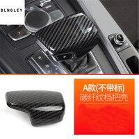 1pc ABS Carbon fiber grain Gear lever decoration cover for 17 18 AUDI A4L / 17 18 A5 / 16 18 Q7 car accessories