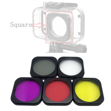 Mijia Original Waterproof Case Lens cap Housing filter/Diving UVRed Square Cover for Xiaomi Mini Action Camera Accessories