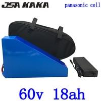 60v battery pack 60V 18AH triangle Lithium battery 60V 18AH electric bike battery use panasonic cell for 60V 1500W 2000W motor