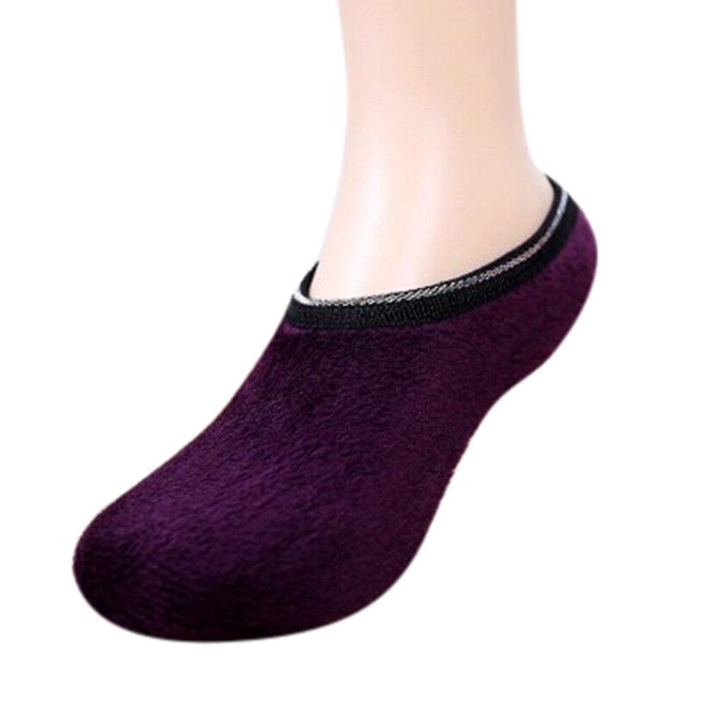 ChamsGend 2018 Hot Sale Fashion Women Girls Non Slip Slipper Fleece Warm Gripper Slippers Socks Dropship 180122 #11