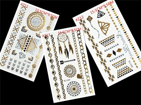 Free Shopping Sex Products Temporary Tattoo For Man And Women Waterproof Stickers makeup make up Flash Gold Tattoo 17