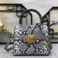 c0390dd2725 Nieuwe dame handtas Snake Print Lederen dames tas mode Europese en  Amerikaanse stijl dame tas(