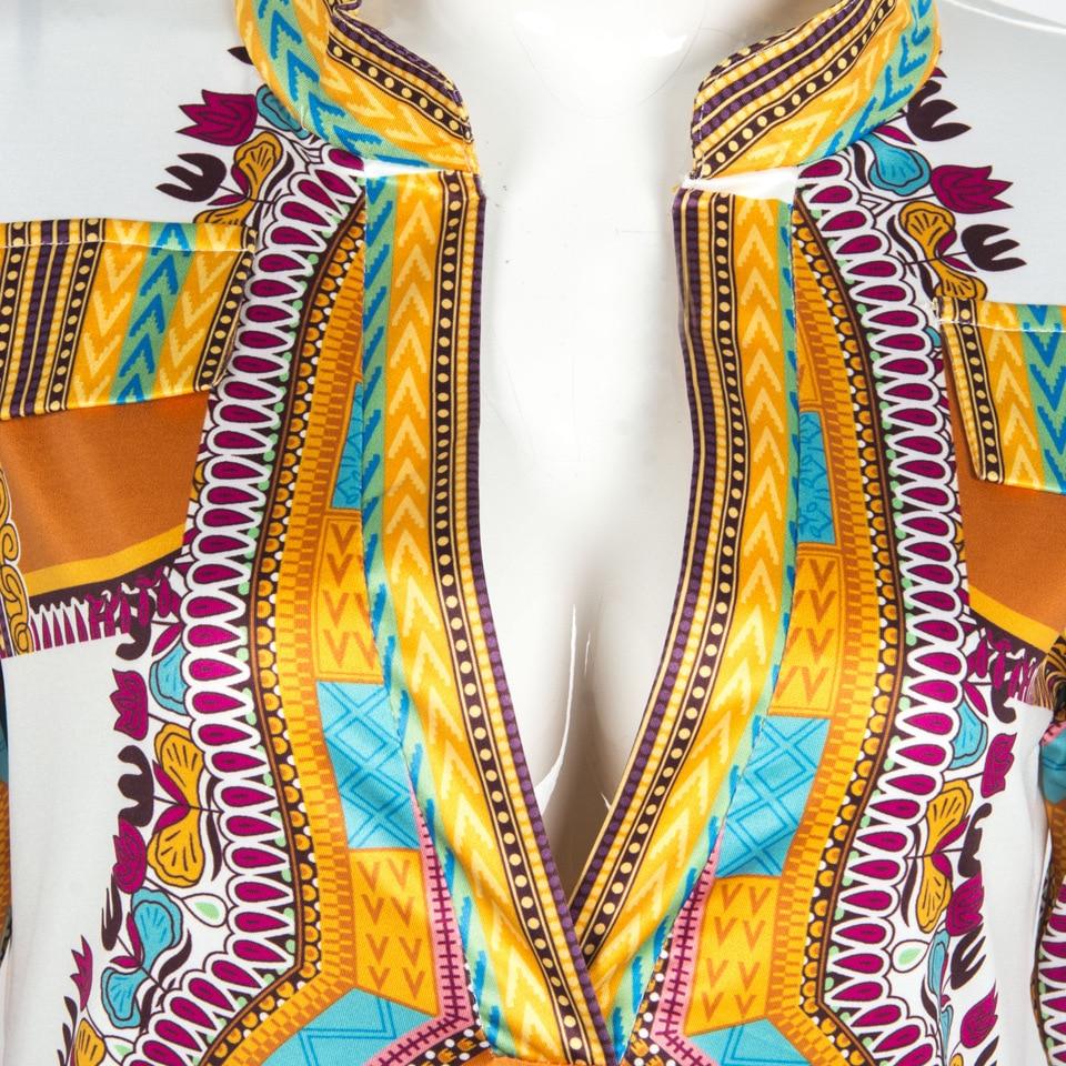 2db00daa208 2018 Retro Summer Dress Women Vintage Bodycon Flower Kim Kardashian Dress  Ethnic Sexy V Neck African Dresses Robe Femme Elbise-in Dresses from Women s  ...
