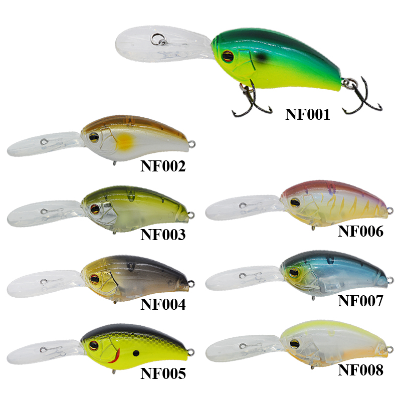 Fishing Lures 15g 56mm Crank Bait Floating 0-0.6m France VMC Hooks Esche Artificiali Pesca Leurre Dur Peche Free Shipping