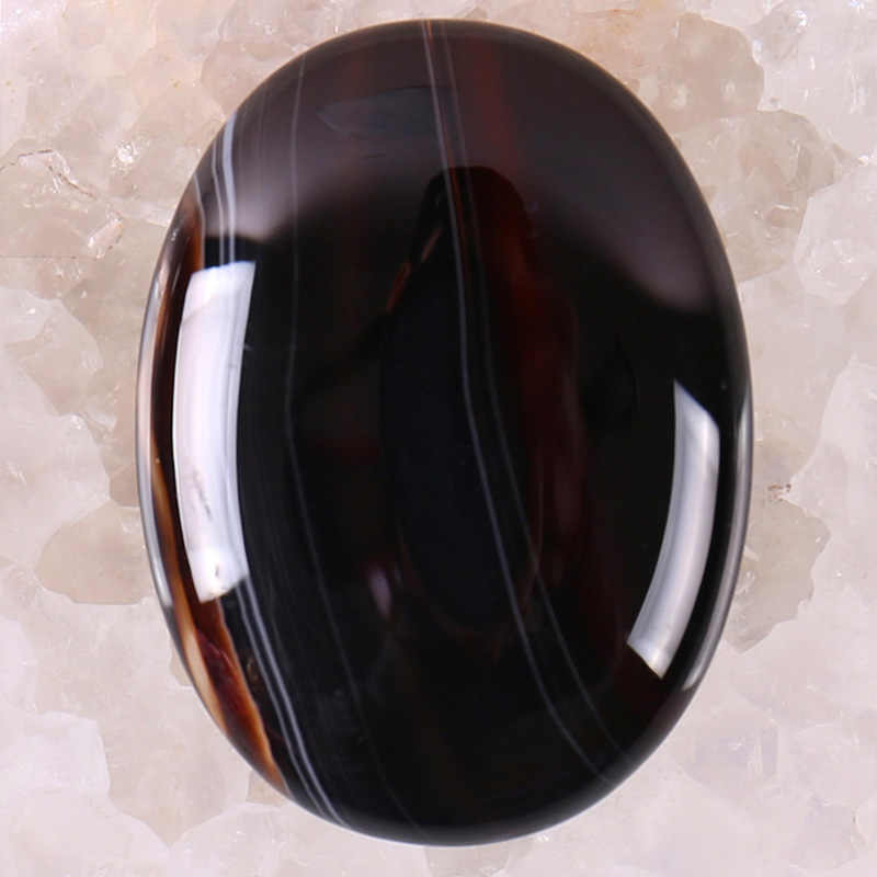 40x30MM Black Veins Carnelian Stone Oval Cabochon CAB GEM Jewelry Making 1PCS H097