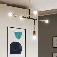 Postmodern Nordic iron herringbone branch pendant light living room restaurant bedroom bar hanging lighting E27